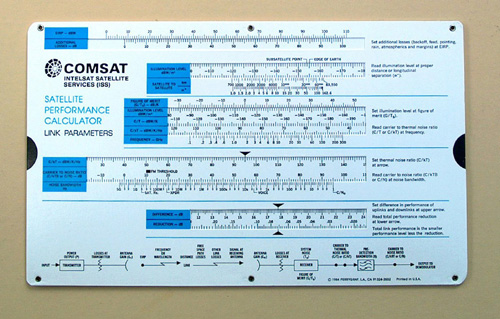 comsat satellite slide rule link calculator